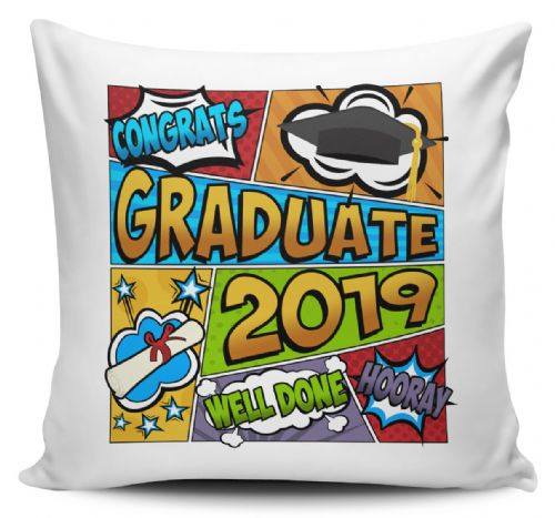 Congrats Graduate 2019 Comic Cushion Cover